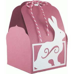 tag topper favor box - easter bunny