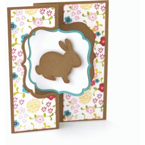 a2 flip swing card easter bunny