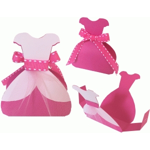 princess dress favor box