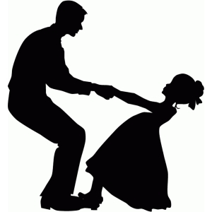 father daughter dance silhouette