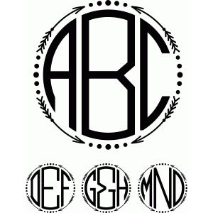 monogram arrow