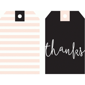 thanks & stripes tag set