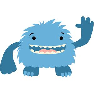 fluffy blue monster