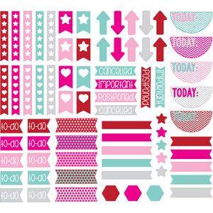 valentine colors planner tabs