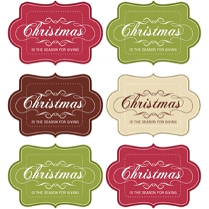 christmas is the season tag set