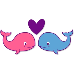 cute whale couple