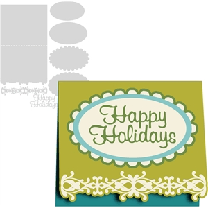 'happy holidays' card kit