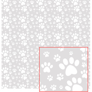 cool dog paw paper