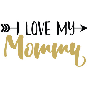 baby t-shirt: i love my mommy