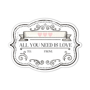 valentine printable - all you need is love