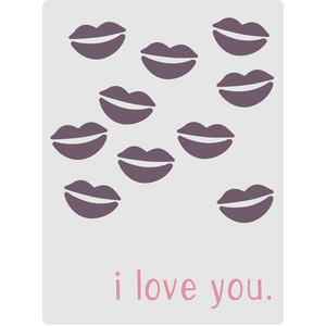 i love you kiss card