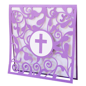 cross flourish card