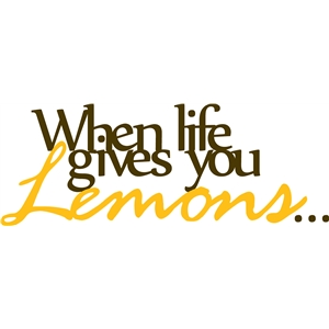 when life gives you lemons... phrase