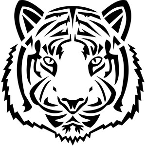 tribal tiger head