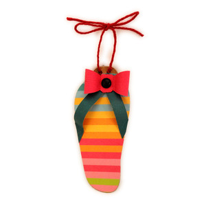 flip flop ornament bow