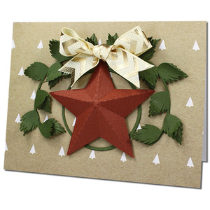 3d holiday star card