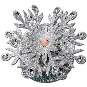 snowflake tea light