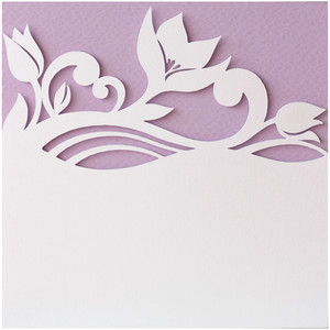 flowers layer card