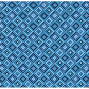 blue diamond snowflake pattern