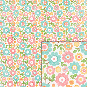 easter flowers background paper