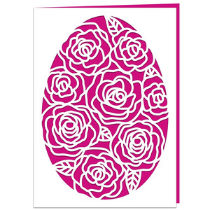 roses easter egg card