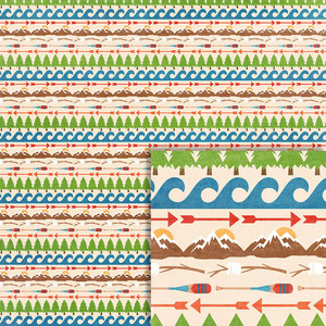 camping borders background paper