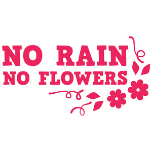 no rain no flowers quote