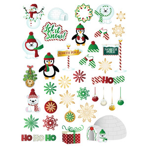 north pole planner stickers