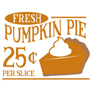 fresh pumpkin pie sign