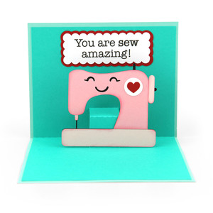 pop up card valentine sewing machine