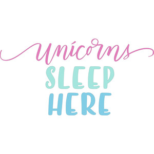 unicorns sleep here