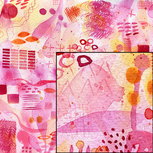 pink watercolor abstract painted pattern