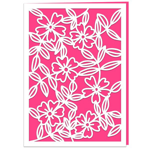 wild roses greetings card