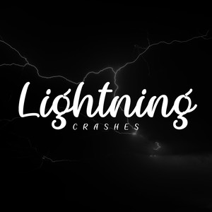 lightning crashes font