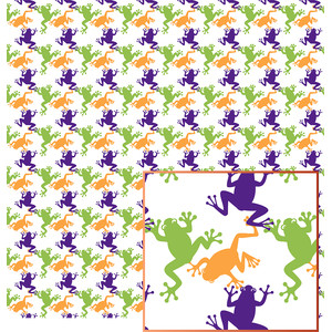 halloween frogs pattern