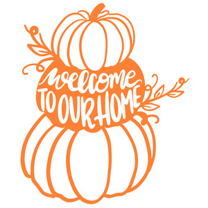 welcome to our pumpkins home porch sign