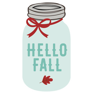 hello fall mason jar