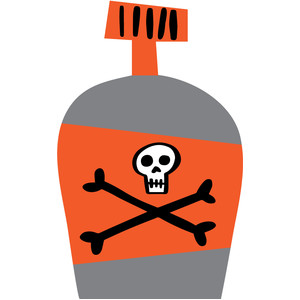 halloween poison potion bottle