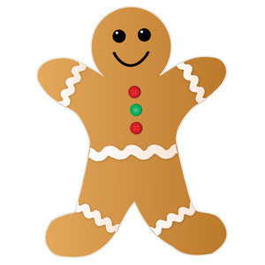 gingerbread cookie man