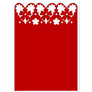hearts lace topped card