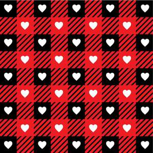 buffalo check hearts pattern