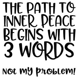 the path to inner peace quote