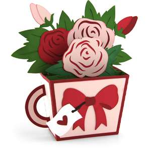 box card teacup valentine roses