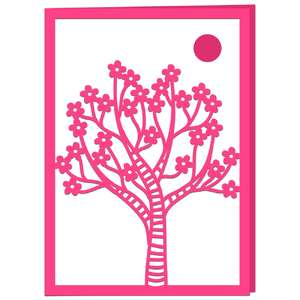 cherry tree in blossom card