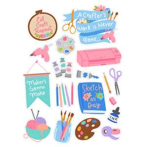 crafting hobby planner stickers
