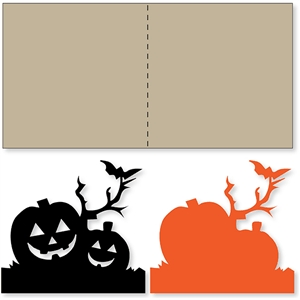pumpkin bat branch card