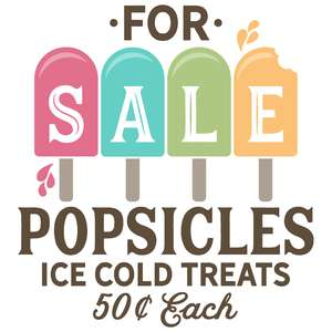 for sale popsicles