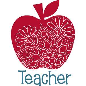 teacher apple mandala