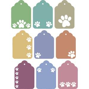 dog paw cutouts gift tags