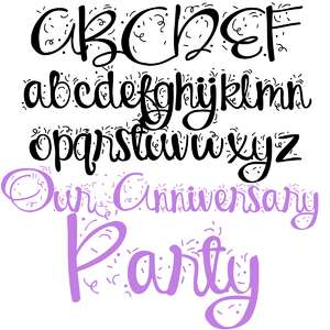pn our anniversary party